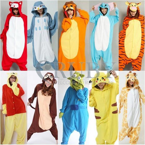 Новый Взрослый пижамы Рождественский костюм животных косплей взрослых  onesies пижамы сшить костюмы пижамы Пикачу 0f0ced2a158b0
