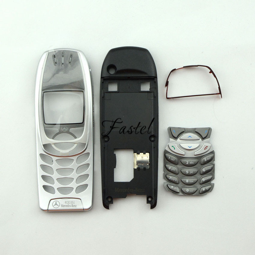 For Nokia 6310i Mercedes-Benz Logo SILVER High Quality New Full Complete Phone Housing Cover Case+Keypad+Tools Free shipping(China (Mainland))
