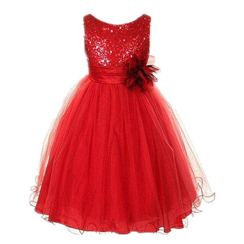 High quality Sleeveless Girl Dress Children Dress Party Summer Ball Gown Princess Baby Girl Wedding Dress Birthday clothes(China (Mainland))