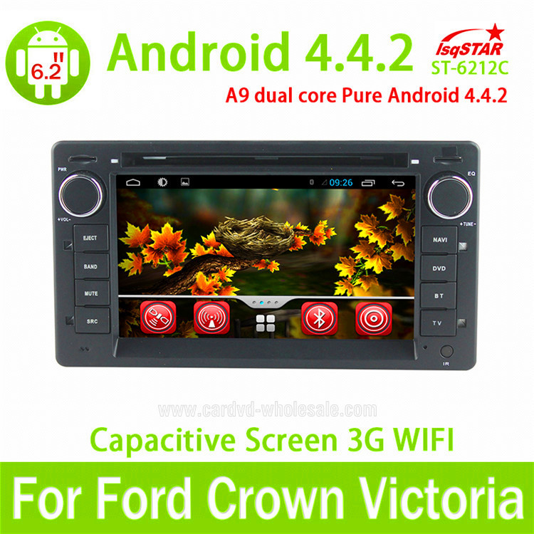 LSQ capacitive 2 din Car radio gps for Ford Crown Victoria with radio RDS BT Ipod USB SD 3G WIFI SWC optional build in ISDB-T(China (Mainland))