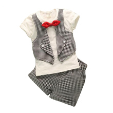 Clothing Set new summer boys suits baby summer short sleeved suit pants 2pc sets children