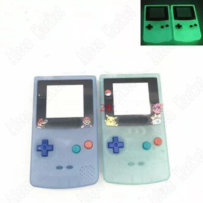 2pcs New Noctilucent Luminous Night Light Full Housing Shell Cover For Nintendo GBC Gameboy Color