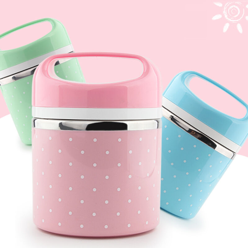 1 layer portable cute japanese bento box thermal insulation leak proof stainless steel lunch box. Black Bedroom Furniture Sets. Home Design Ideas