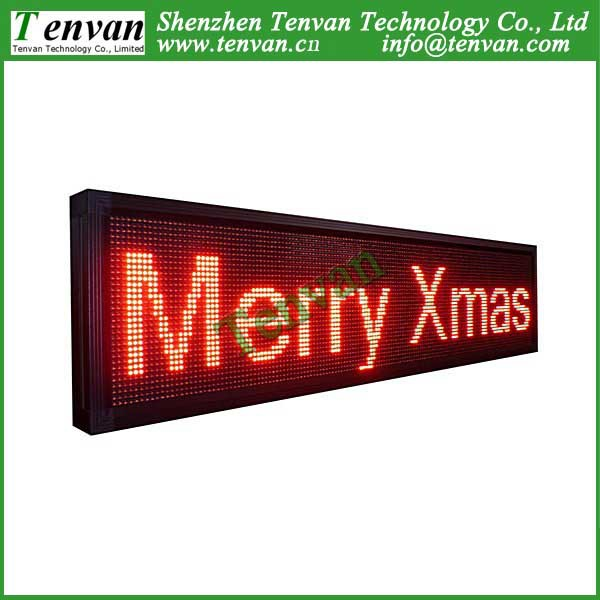 Free shipping led screen advertisement with Red color, high brightness and size 168cm(W)*40cm(H)(China (Mainland))