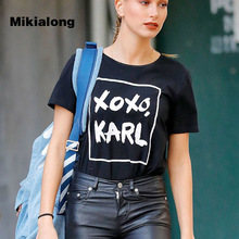 Buy 2017 Fashion Harajuku Casual Women's T-Shirts Femme XOXO KARL Printed Punk Rock T Shirt Women Summer Short Sleeve Camiseta Mujer for $7.69 in AliExpress store