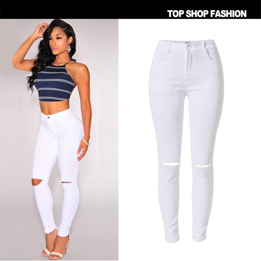 Online Get Cheap Distressed Skinny White -Aliexpress.com | Alibaba ...