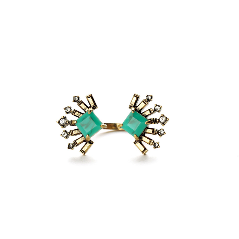 Emerald Party Rings Online Shopping Indian Unique Fashion Jewelry 2016(China (Mainland))
