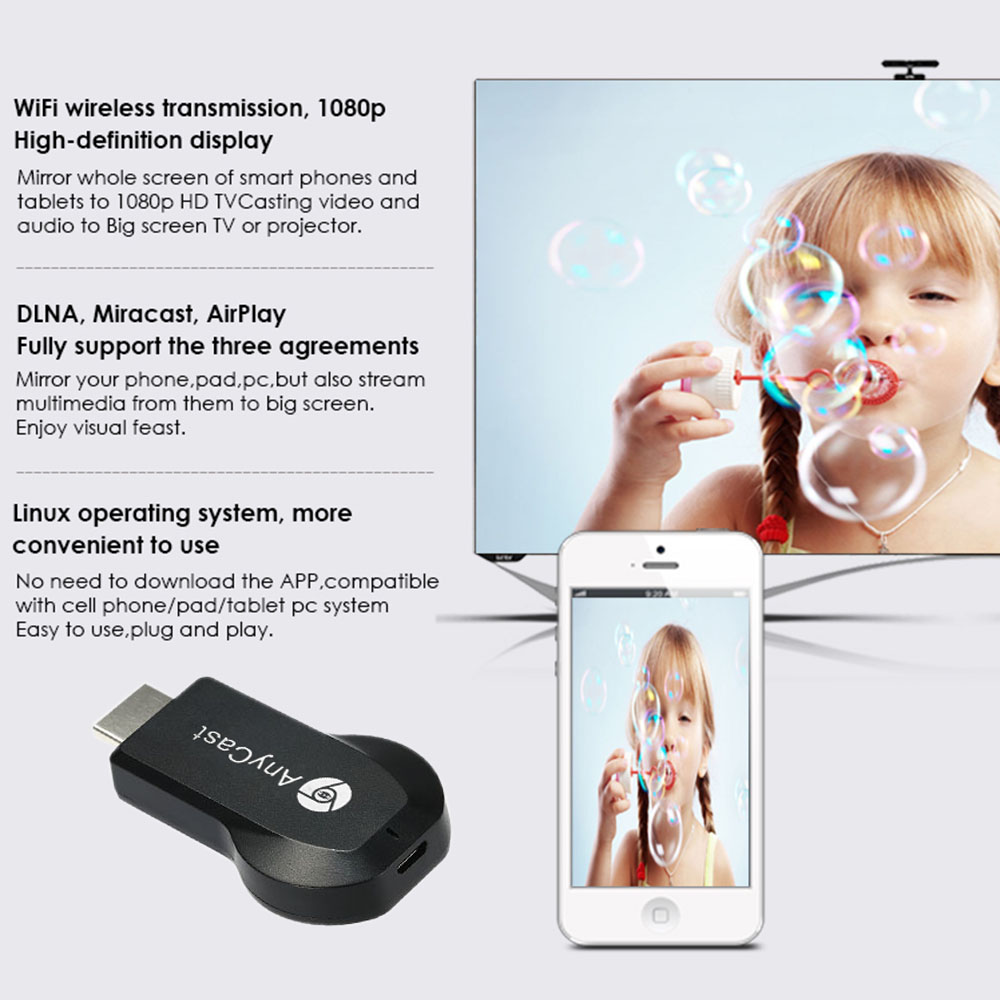 AnyCast M2 Plus Airplay 1080P TV Dongle