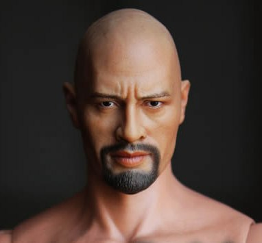 1/6 scale figure doll head shape for 12Action figure doll accessories Fast &amp; Furious Dwayne Johnson head,not include body<br><br>Aliexpress
