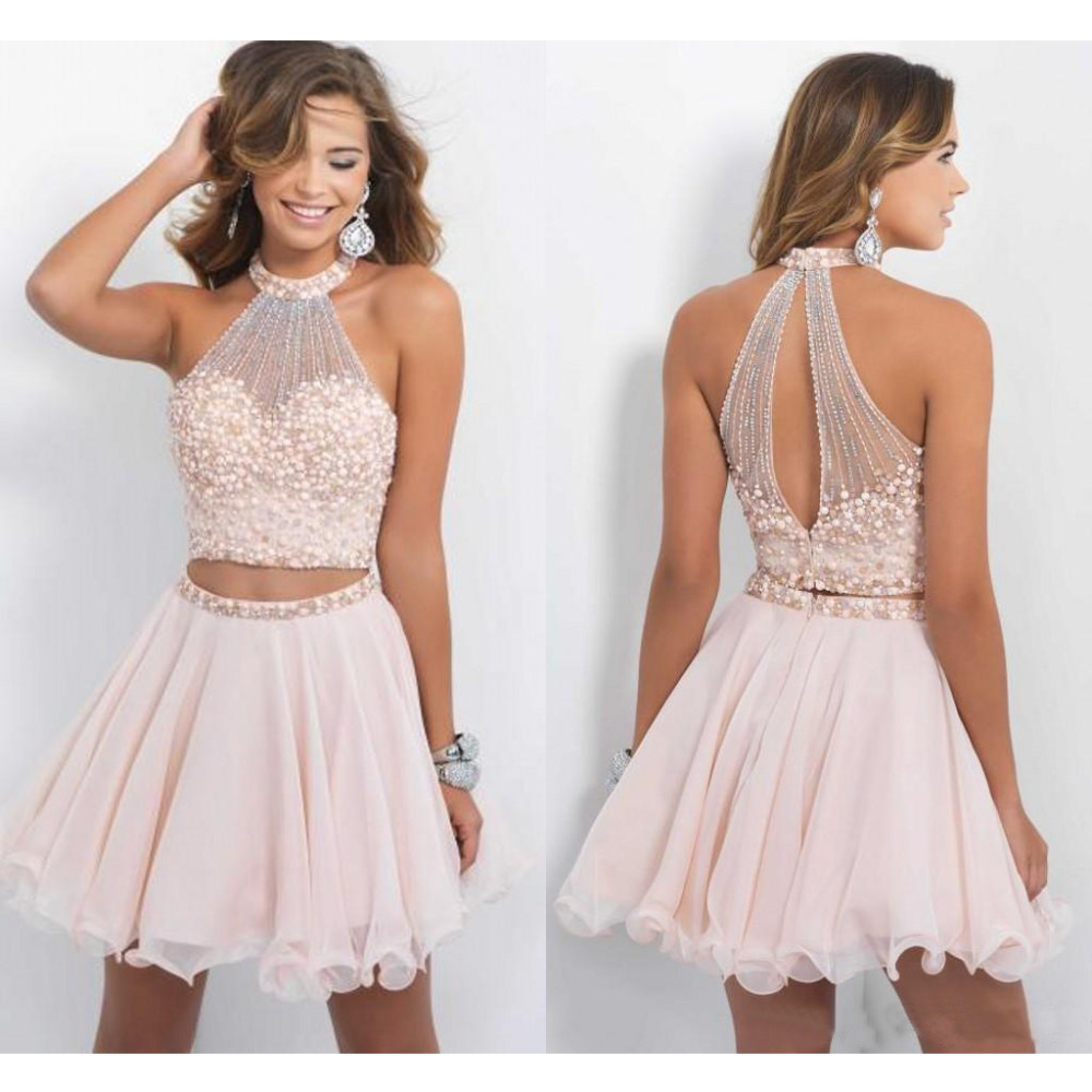 Popular Pink Chiffon Cocktail Dress-Buy Cheap Pink Chiffon ...