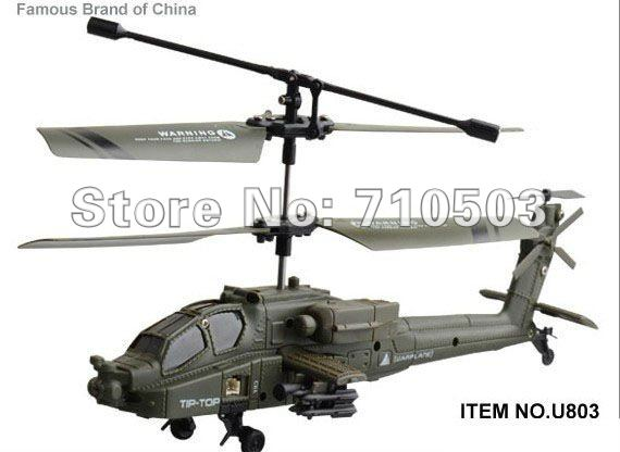 3ch helicopter gyro Apache Military Infrared 3CH RC Army Helicopter(China (Mainland))
