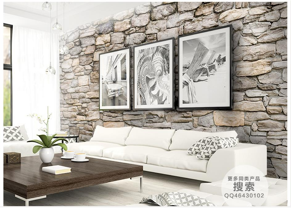 Customized 3d photo wallpaper 3d wall murals wallpaper Natural stone culture stone wall in the background wall decor living room(China (Mainland))
