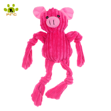 2016 NEW Dog Toy Plush Corduroy Stuffer Puppy Toys Pet Items For Dog Chewing Pink Pig Toys Funny Doggie Toys Production For Dogs(China (Mainland))