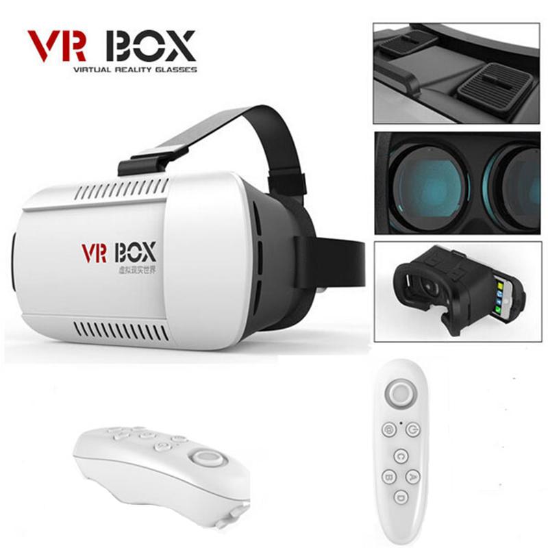 Google картон Headmount VR коробочной версии VR виртуальной реальности 3D очки для 3.5  - 6.0  смартфон + Bluetooth пульт дистанционного управления