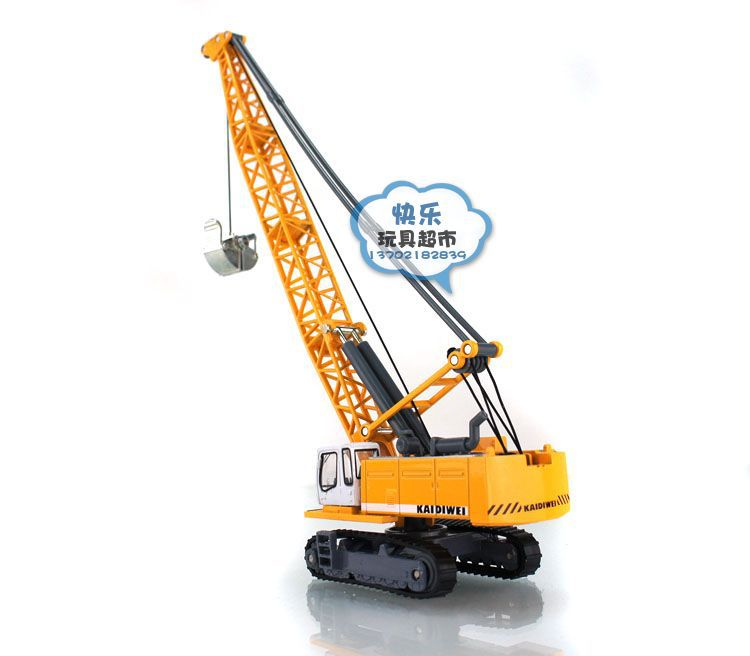 Free shipping Kaidi Wei all-alloy tower crane rope excavator truck alloy car toys(China (Mainland))