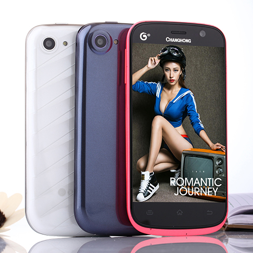 ChangHong V70t 4.5'' MTK6589 Quad Core Android 4.2.2 5MP Auto-focus 4GB Smartphone GPS/AGPS Russian Dual Sim Mini Phone(China (Mainland))