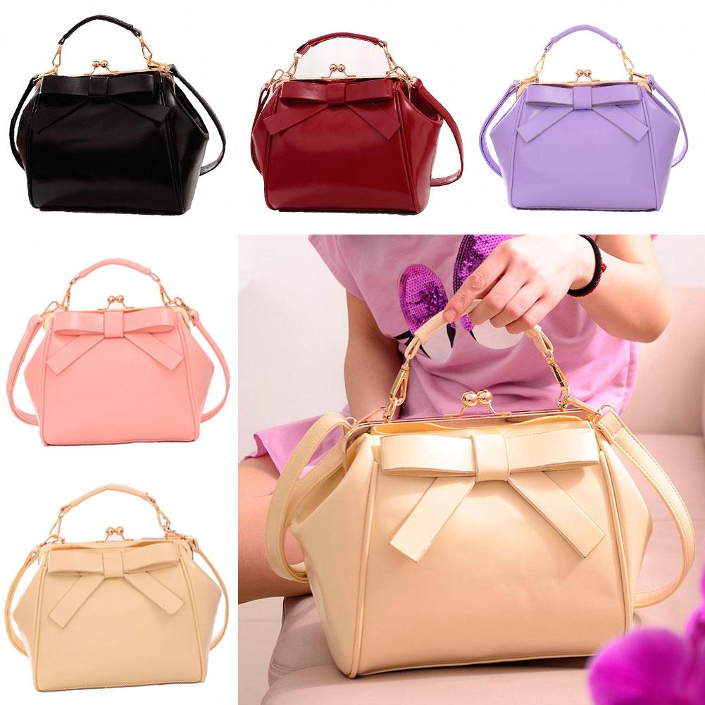 New Fashion Women Handbag Fashion Bow Shoulder Messenger Clip Handbag Girls BS88<br><br>Aliexpress
