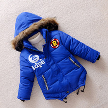 2016 Boys Parka Childen Winter Jackets For Boys Jackets Coats Warm Kids Baby Thick Cotton Jacket Cold Winter 5-8Y(China (Mainland))
