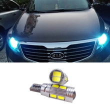 2x High Power 168 W5W T10 Led with Projector Lens Light Source Parking Led for Kia sportage rio k2 k3 k5 ceed cerato sorento(China (Mainland))