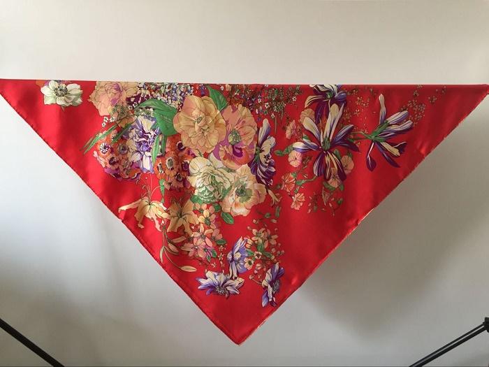 Promotion fashion women 100% silk twill scarf big square 12m/m shawl Muslim hijab cape female 90cm*90cm headwear morning glory(China (Mainland))