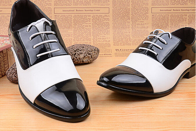 Brand New 2015 Spring Summer Autumn Men Oxfords Shoes Male Formal Dress Shoes White Black Leather Lacing Wedding Office Shoes(China (Mainland))