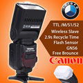 Triopo TR 586EXC Wireless Mode TTL Flash Speedlite for Canon EOS 5D Mark II 5D3 7D