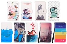 Fashion Cartoon Painting PU Leather Flip Stand Wallet Cover For Doogee Homtom HT3 Mobile Phone Case(China (Mainland))