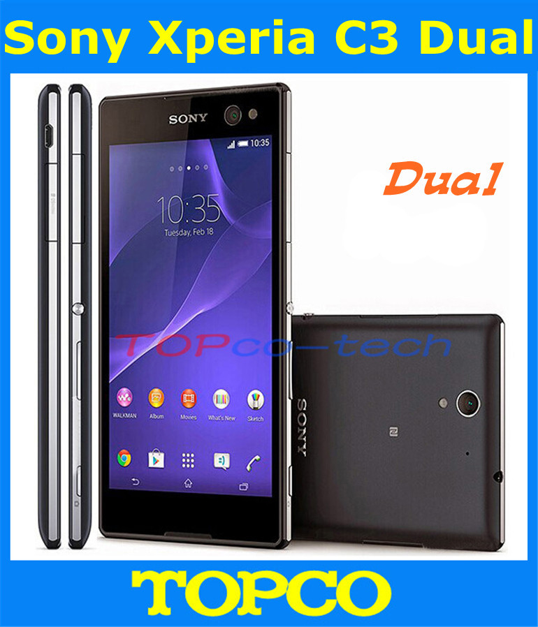 """Sony Xperia C3 Dual original unlocked Quad-core Android mobile phone Sony C2502 3G GSM WIFI GPS 5.5"""" 8MP 8GB dropshipping(China (Mainland))"""
