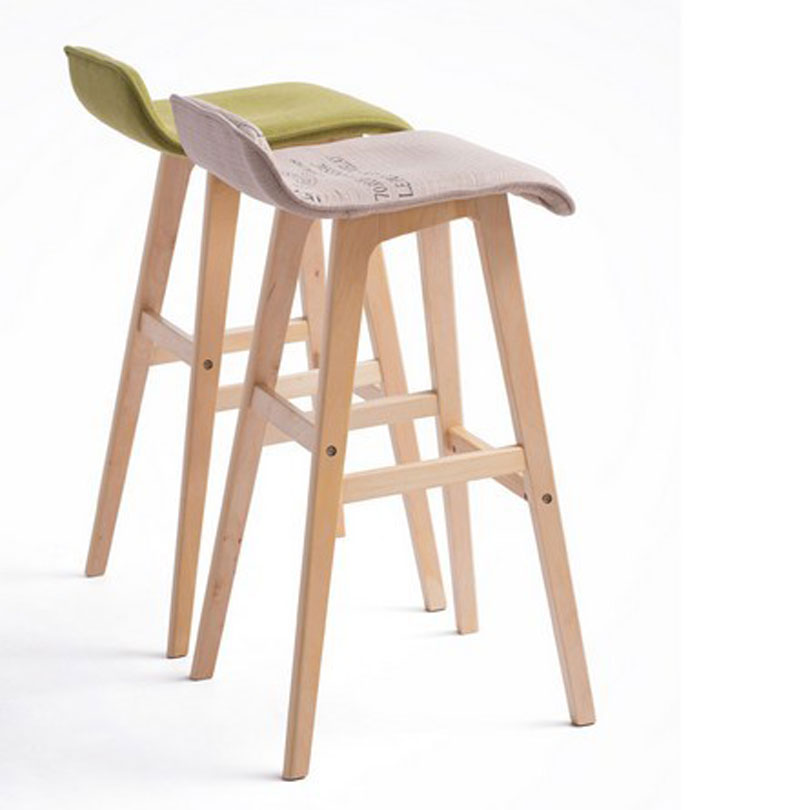 100% wood Bar chair,Bar stools sillas,cadeira,pastoral style bar chair,leisure style,Multiple color choices,Wood Bar furniture(China (Mainland))
