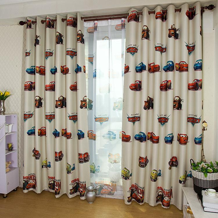 Special children's cartoon curtain baby nursery curtains cars curtains for nursery(China (Mainland))