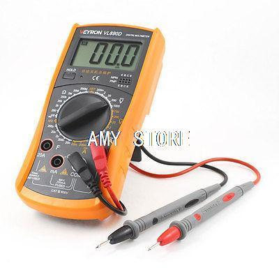 20mA-20A AC Current Resistance Meter Digital Multimeter + 2 Test Lead VL890D<br><br>Aliexpress