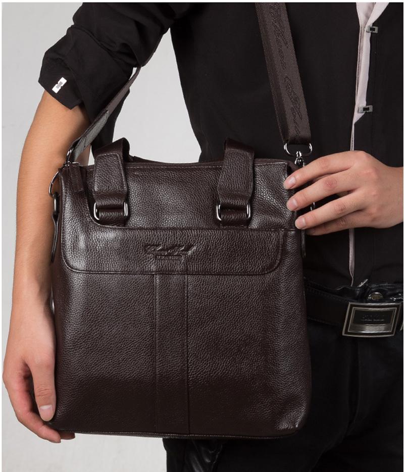 2015 genuine leather messenger bags for men shoulder bag male bag cowhide new<br><br>Aliexpress