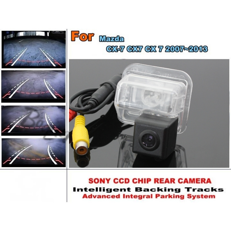 Directive Parking Tracks Lines Rear Camera Mazda CX-7 CX7 CX 7 2007~2013 imports HD CCD HD Model / Best Model