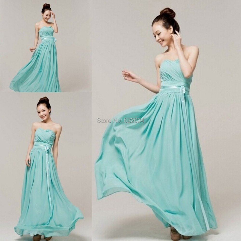 New Arrival 2015 Sexy Cheap Long Mint Green Bridesmaid