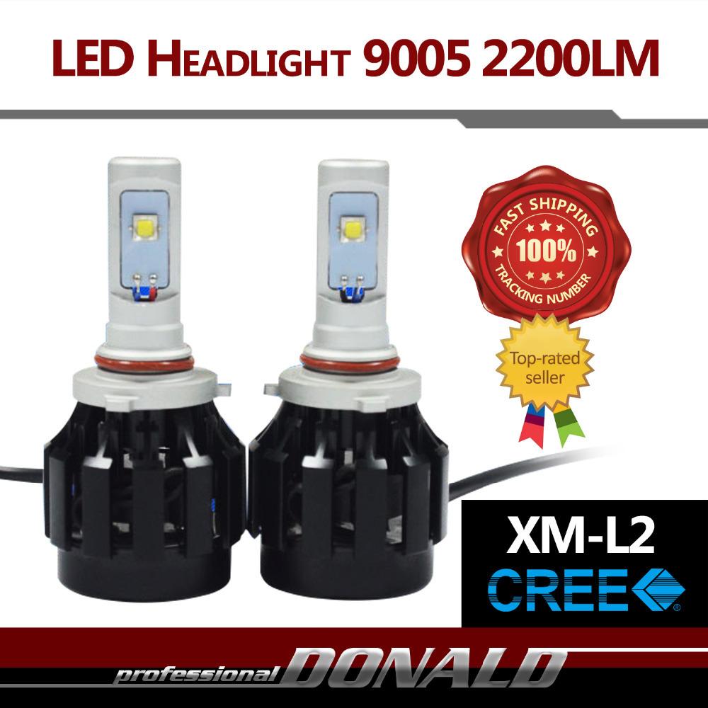 2015 NEWEST ARRIVAL!! 2x 9005 HB3 ALL IN ONE 40W 4400LM CREE XM-L2 LED Car White Fog Headlight Bulb Kit W/ Fans Waterproof IP68<br><br>Aliexpress