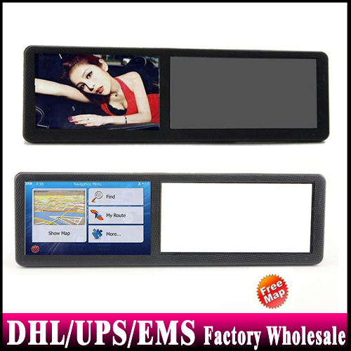 50pcs/lot 5 Inch Rearview Mirror Car GPS Navigation With 128MB/4GB Support Multi Language IGO8 IGO9 Navitel Maps(China (Mainland))