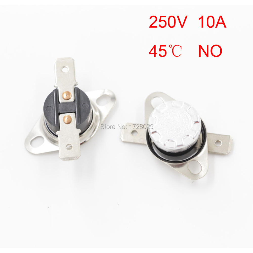 Hot Sale KSD301 45 Degrees Celsius Normal Open NO Temperature Controlled Switch Thermostat 250V 10A<br><br>Aliexpress