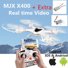 Free Shipping! MJX X400 6-axis Gyro Roll Quadcopter Drone RC Helicopter&C4005 WiFi FPV Camera