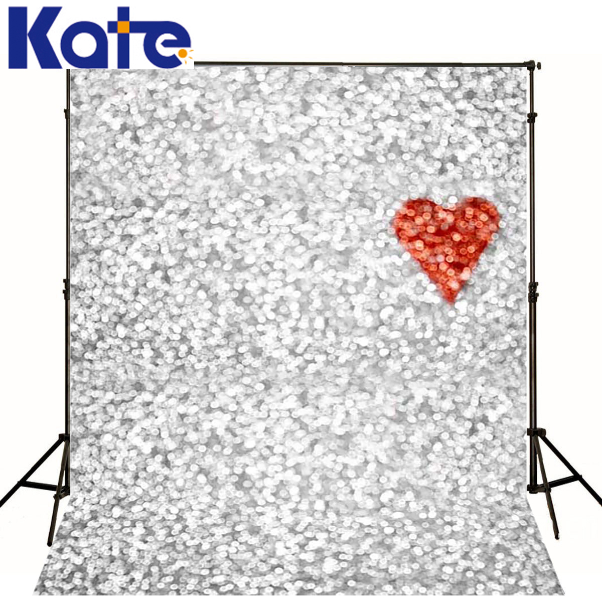 Children Backgrounds Red Heart Photography Background Newborn Bright Silver Wall Background Customize Backdrop(China (Mainland))
