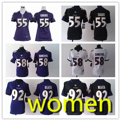 Women's high quality free shipping Baltimore ravens # 52, # 55 58 # # 81 # 92 # 27(China (Mainland))