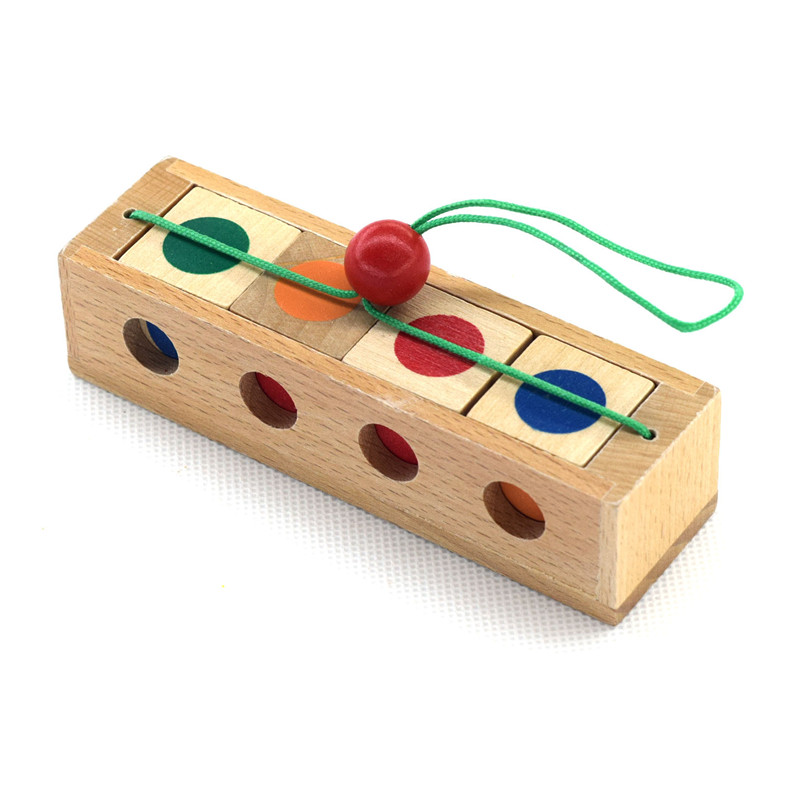 New Wooden Baby Toys KongMing Lock Early Educational Toys Baby Gifts