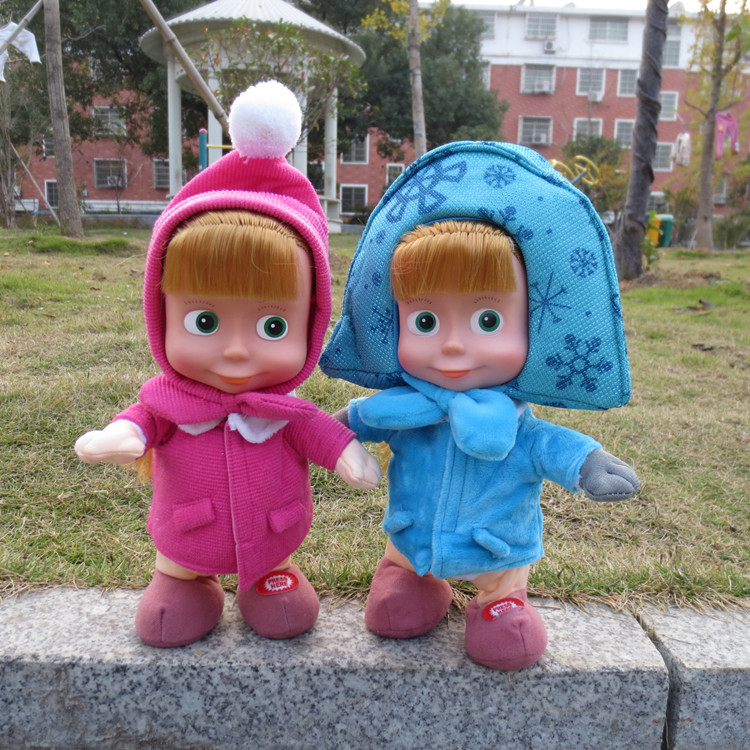 Masha and Bear None Electric Figure Matryoshka Doll Toy Dancing Walking Talking Singing Doll Russian doll intelligent(China (Mainland))