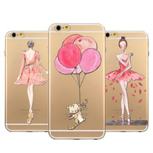 Ultra Thin Pretty Girl Crystal TPU Customize Case For Iphone 4 4S 5 5S 6 6s Plus Back Skin Phone Cover Fundas Silicone Gel Case