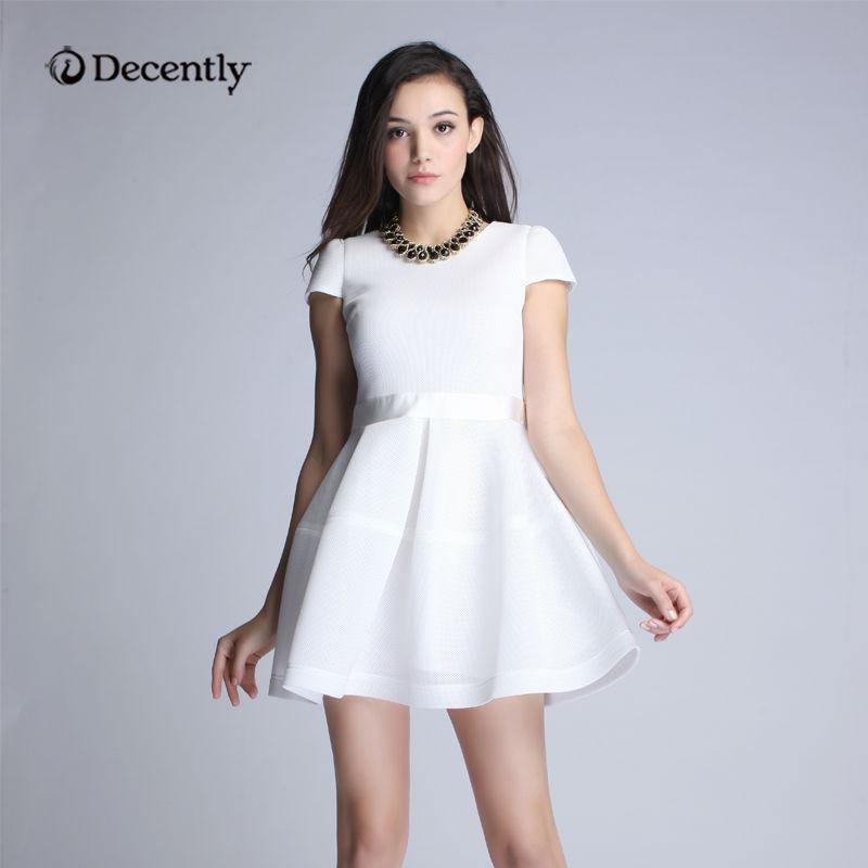 Платье на лето с коротким рукавом