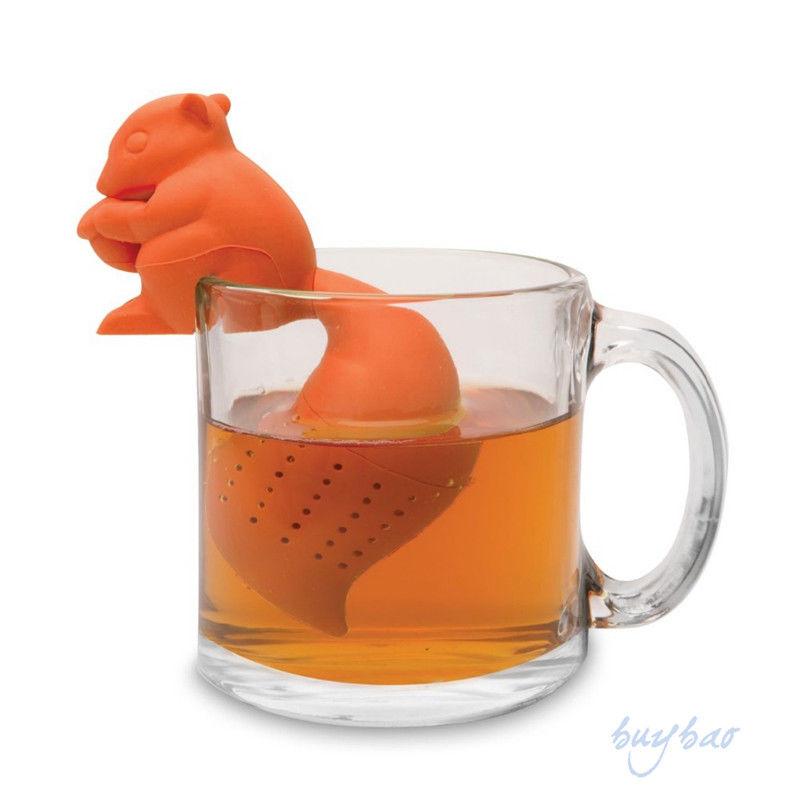 squirrel shape tea infuser loose leaf strainer bag mug filter friends applied in tea strainers. Black Bedroom Furniture Sets. Home Design Ideas