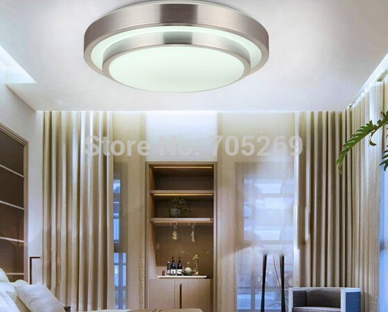 HOT!Double Aluminum Line Led Ceiling Light Dia 350mm AC85~260V Cool White/Warm White Indoor Bedroom Kitchen Lamps(China (Mainland))