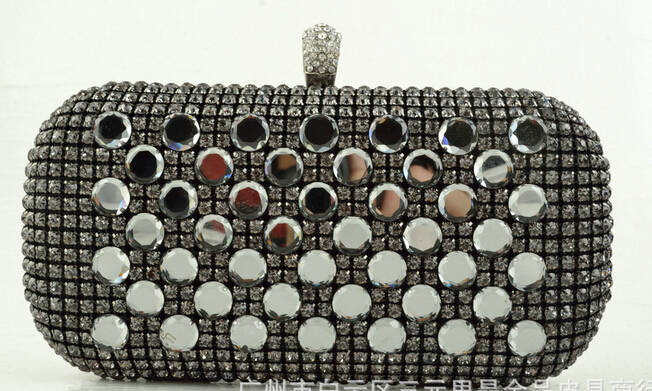 3 colors of women's clutch bags rivet diamond evening bags rhinestone fahsion handbag for women party shoulder bags 110B(China (Mainland))