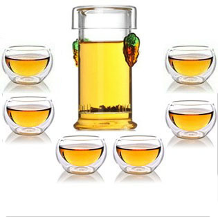 Freeshipping High temperature resistant glass tea set flower pot glass teapot interaural green tea black tea