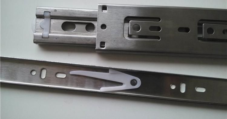 4510 stainless steel beads long ball rail track drawer slide three cabinet drawer slides(China (Mainland))