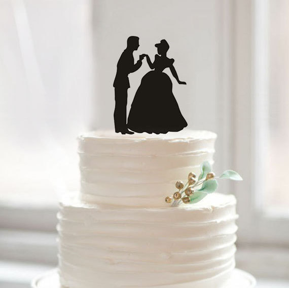 Funny dancing bride and groom wedding cake topper,acrylic silhouette cake topper for decoration(China (Mainland))